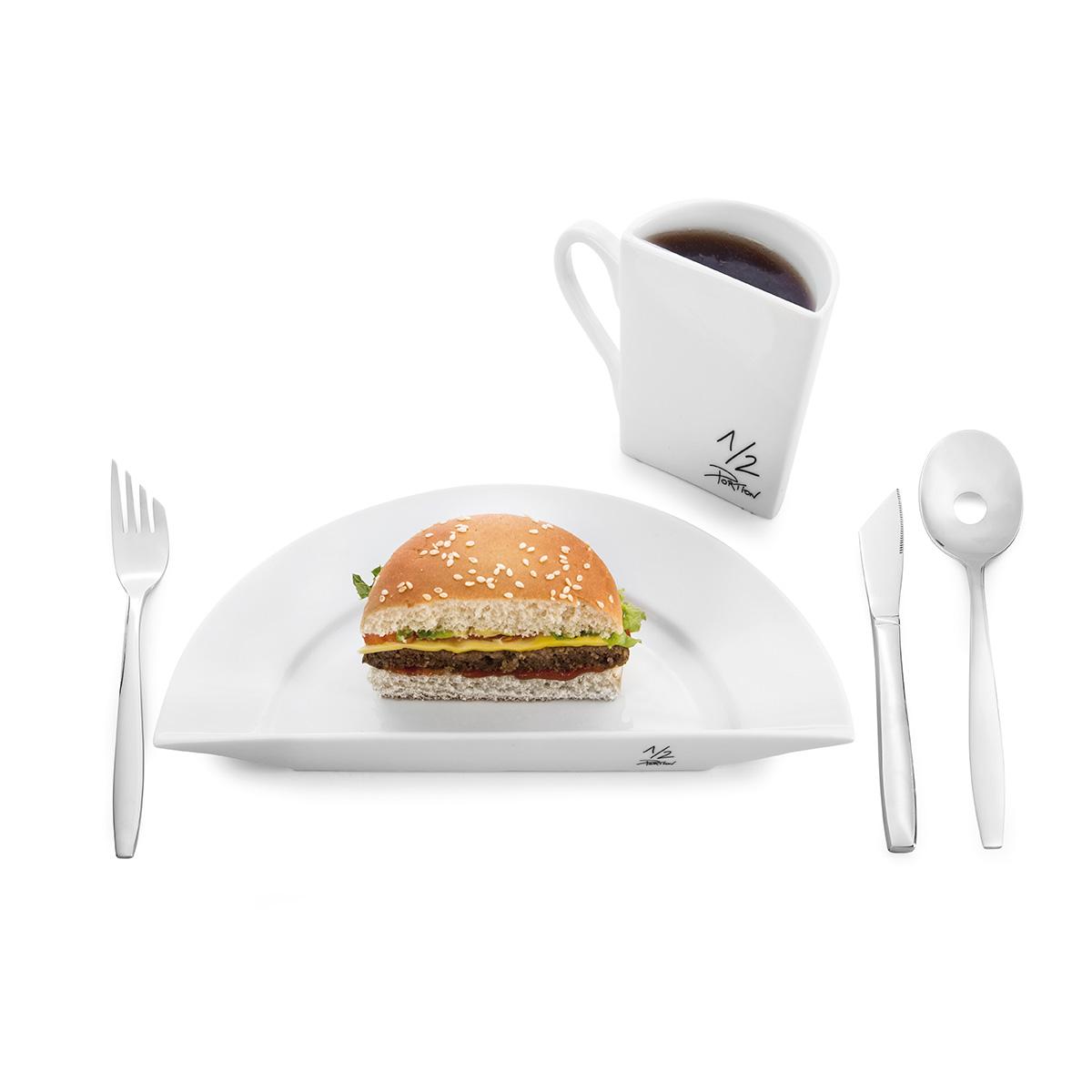 ½ Portion – Das lustige Diät-Geschirr