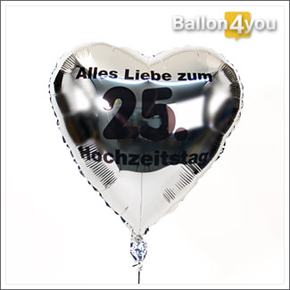 Alles Liebe Zum 25 Hochzeitstag Geburtstagsgeschenk24 De