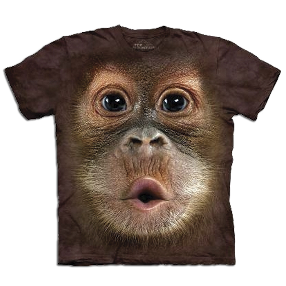 Big Face Tier-T-Shirts – Orang-Utan-Baby