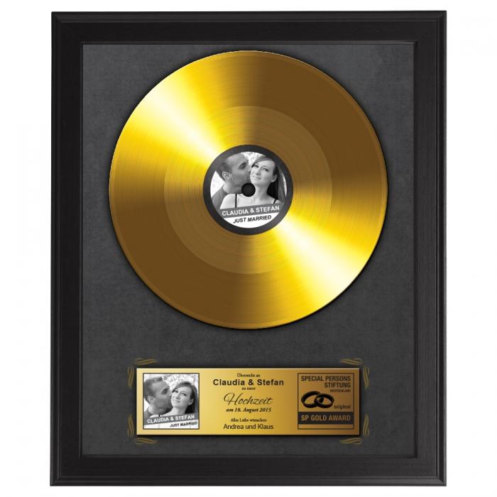 Goldene Schallplatte – Hochzeitsbild
