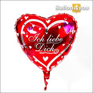 Herzballon rot – Ich liebe Dich