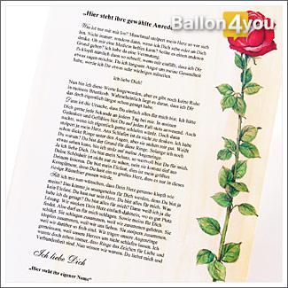 Liebesbrief – romantisch