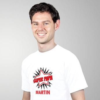 T-Shirt – Herren Regular Weiß XL