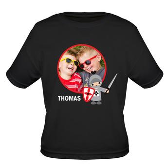 T-Shirt Kinder Regular Schwarz 9-11 Jahre