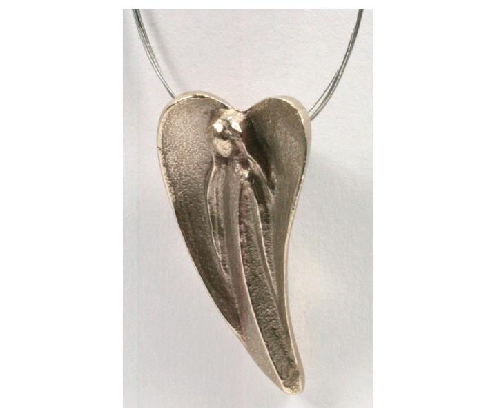 edelstahl-halskette-moderner-engel-und-silberbronze