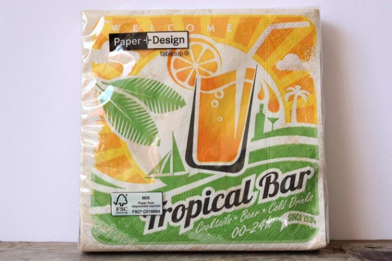 20 Papier-Servietten Cocktailservietten 25×25 gelb